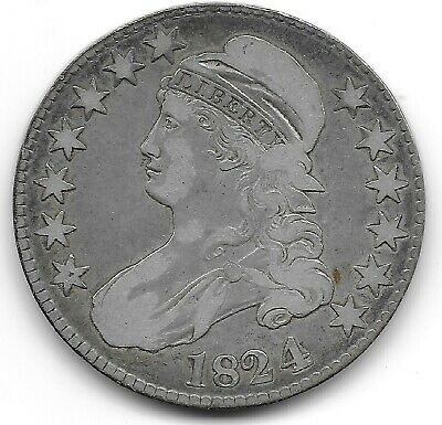 1824 4 Over 4 Capped Bust Half Dollar