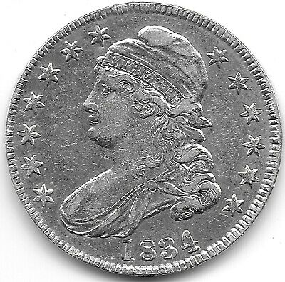 1834 Large Date & Small Letters Capped Bust Half Dollar