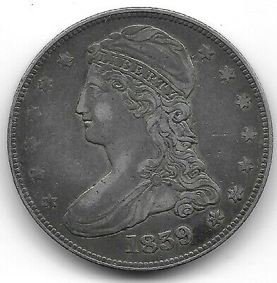 1839 Capped Bust, Reeded Edge Half Dollar