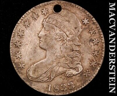 1833 Capped Bust Half Dollar-Scarce Better Date #O2117