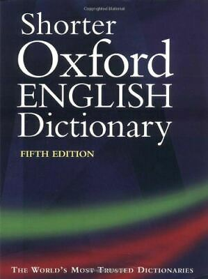 , Shorter Oxford English Dictionary: Thumb-indexed edition, Very Good, Hardcover