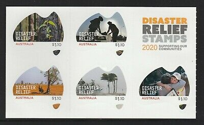 AUSTRALIA 2020 - DISASTER RELIEF complete Sheet of 5 different $1.10 stamps MNH
