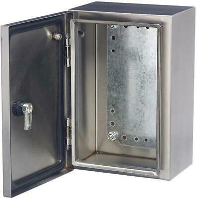 SSTB403020 Ip65 Stainless Steel Wall Mount Enclosure - 400x300x200mm