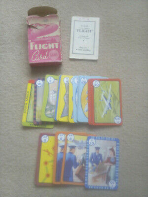 Vintage 1954 Flight Pepys Card Game Complete With Box & Instructions Speed