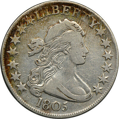 1805 Draped Bust Half Dollar, VF Cleaned, 50c C00048454