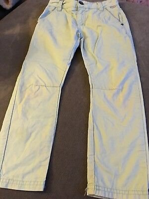 Baker By Ted Baker Boys Green Trousers Size 6 Years Great Condition
