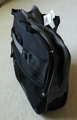 Travelers Club 32-Inch Compactable Rolling Duffle with Side Pockets, black/gray