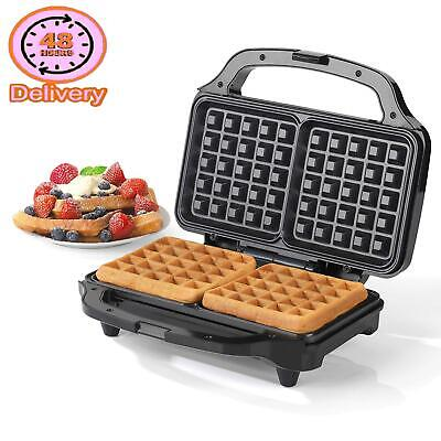 Salter Ek2249 Deep Fill Waffle Maker With Xl Non-Stick Cooking Plates, 900 W, Si