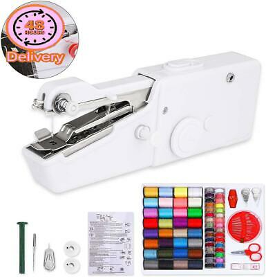 Mini Sewing Machine For Beginners Handheld Portable With Stapler Cordless Set El