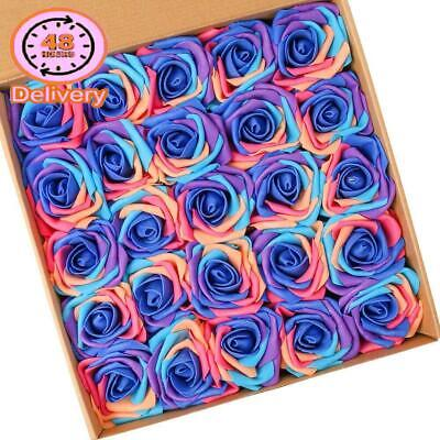 NT Nieting Artificial Flowers Roses, 25Pcs Real Touch Unicorn Foam Rose With St
