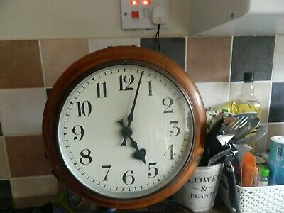 12 INCH DIAL WALL CLOCK ELECTRIC 1950s OR EARLIER WORKING