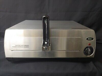 Oster Pizzeria-Style Countertop Pizza Oven Stainless Steel 003224. New No Box