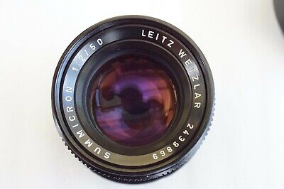 Leica Leitz Summicron-M 50mm f2 (Type 4). Made in Germany