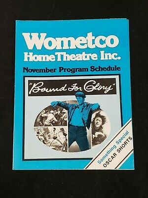 1976 November *Bound For Glory* Wometco Home Theater Program Schedule (As) D