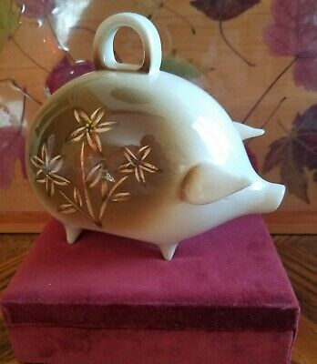 Vintage mexican Ceramic Piggy Bank With Handle
