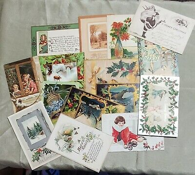 Vintag Lot of 15 Antique Christmas Postcards Early 1900's (#2)
