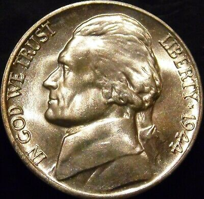 1944-D Jefferson Nickel Choice/Gem BU Uncirculated
