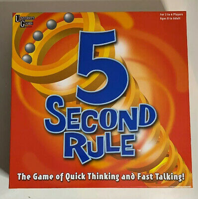 5 Second Rule Board Game - Quick Thinking & Fast Talking - Complete
