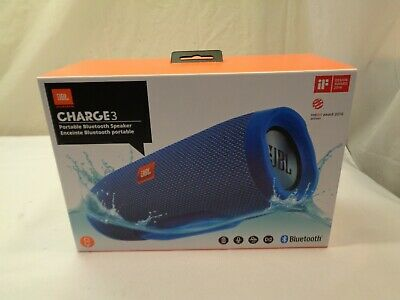 Jbl Charge 3 Portable Wireless Bluetooth Blue Speaker W/Box