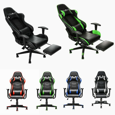 Racing Sport Executive Modern Office Visitor Swivel Chair High Back Recliner UK