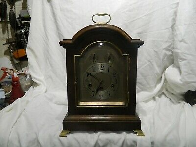 JUNGHANS WESTMINSTER CHIME OAK CASED BRACKET CLOCK EARLY 20th cent REPAIRS