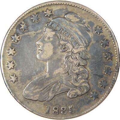 1835 50c Capped Bust Silver Half Dollar Coin VF Very Fine
