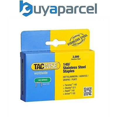 Tacwise 0371 Typ 71 Packung 10,000 Klammern 14mm 71 Serie