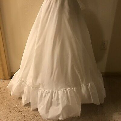 MERRY MODES Bridal A Line Slip Petticoat Crinoline Full Length Wedding Prom OSFM