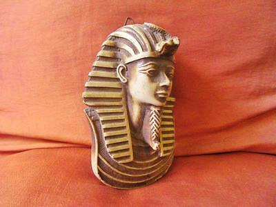 Antique Egyptian Head Mask of Ancient King Tutankhamun Collection Sculpture