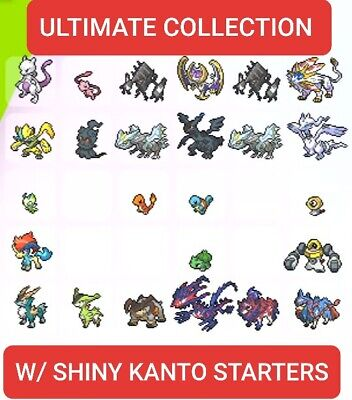 Pokemon Sword and Shield Ultimate Legendary Collection 6 IV LV 100 Comp Trained