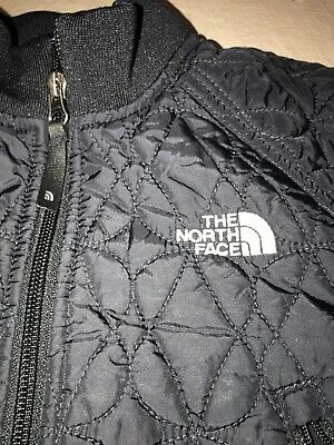 Preowned The North Face Girls Black Size XS Spring Patterned Jacket Coat