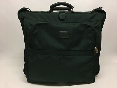 "Vintage Tumi Usa 20"" Wheeled / Rolling Garment Bag (Green)"