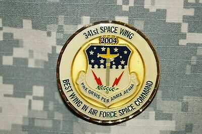 Challenge Coin US Air Force 341st Space Wing Ace in the Hole Space Command