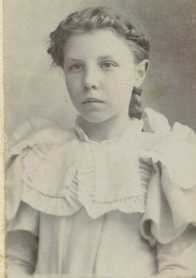 Antique Vintage Photo Mini Cabinet Card LOVELY GIRL TEEN FASHION