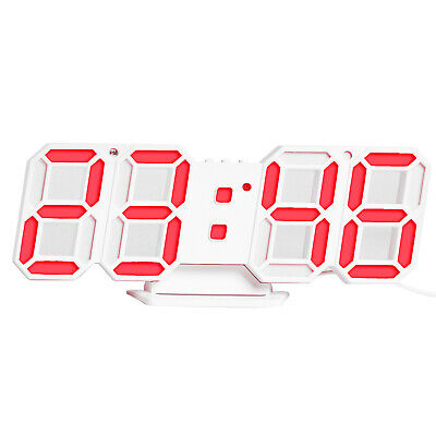 3D LED Digital Clock Electronic Table Clock Alarm Clock Wall Glowing H0Z2