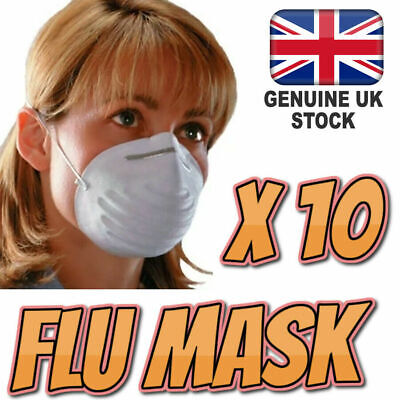 10 X Flu Virus Medical Face Mask Metal Adjustable Strip Surgical Quality Anti
