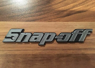 Novelty Joke Snap-on Toolbox Badge Tool Box Chest Spoof Logo 'Snap-off' Emblem