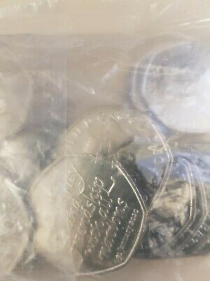 bag of  20 coins of 2020 Brexit Commemorative 50Ps uncirculated