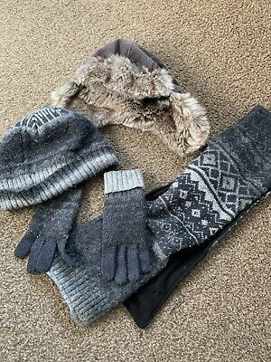 Boys Next Hat Scarf And Glove Bundle Age 7-10 Excellent Condition