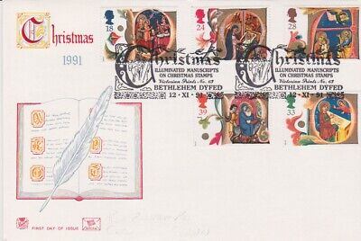 Gb Stamps First Day Cover 1991 Christmas Bethlehem Rares Collection