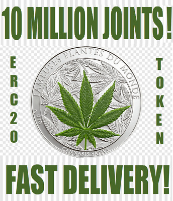 10,000,000 Joints (Jnts) 10 Million Tokens Crypto Mining Contract Erc20 Coin