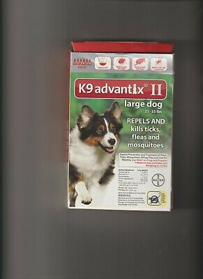 K9 Advantix II for Large Dogs 21-55 lbs - 6 Pack - NEW 5 Left in box