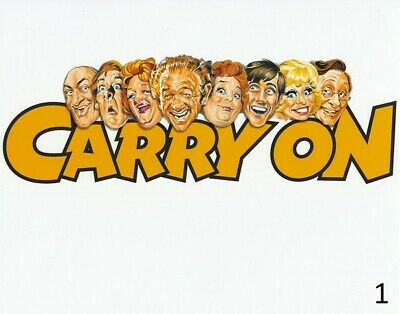 2 x Carry On Stars Sign For You - Carry On poster photo - All money to charity!!