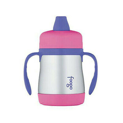 PINK NEW Thermos Foogo 210mL Stainless Steel Vacuum Insulated Sippy Cup