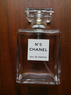 CHANEL No 5 Eau De Parfum 3.4 oz 100ml - Empty Spray Bottle - Made in USA