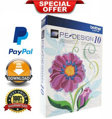 Brother PE Design 10 Embroidery + FREE GIFTS✅ Full Software ✅INSTANT DELIVERY ✅