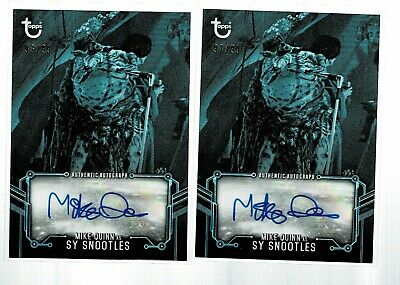Topps Star Wars Black & White Mike Quinn Sy Snootles Blue AUTO /99 LOT(2) (KD)