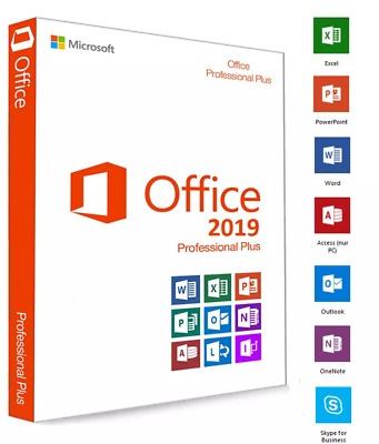 MS Microsoft Office 2019 Professional Plus Vollversion / Product Key / via Ebay