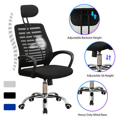 Ergonomic High Back Chair Office Executive Computer Home Seat Stool