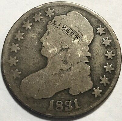 USA - Bust Half Dollar - 1831 - .900 Silver - Well Experienced!